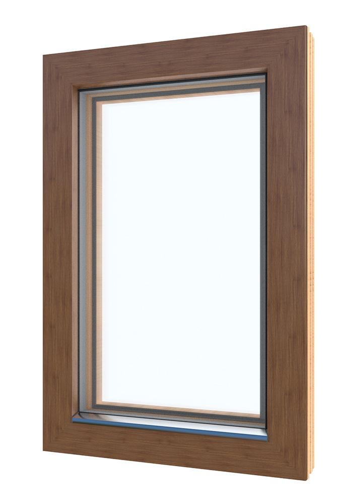 Thermowood okno SCHS 92 Quattro